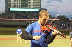 Jesse Spencer performed the National Anthem with firefighter Art Guzman at the Chicago Cubs game last night. #ChicagoFire