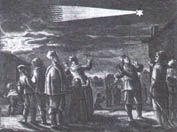 """A print of the """"passage 17th century of the comet."""""""