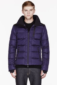 Moncler Royal Purple Quilted Down Soulare Jacket