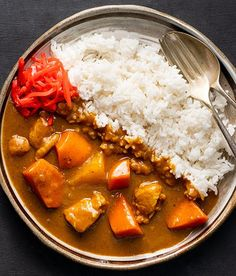 Japanese Chicken Curry, Vegetarian Japanese Curry, Chicken Katsu Curry, Katsu Curry Recipes, Curry Rice, Asian Recipes, Ethnic Recipes, Food Cravings, Food Inspiration