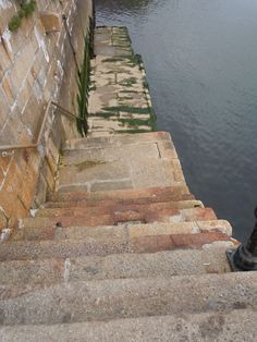 The Pilgrims walked down these steps to board the Mayflower, Plymouth, England