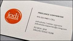 Simple embossed business cards with flat ink blind embossing raised ink business cards reheart Image collections