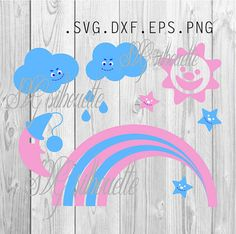 Sun Stars Rainbow Сrescent SVG Cutting file by SVGsilhouette