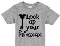 Lock Up Your Princesses / Boys Disney T-Shirt / Mickey Mouse T-Shirt / Disney…
