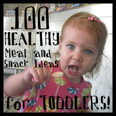 100 Healthy Meal & Snack Ideas for Toddlers -These are not peanut allergy friendly but those that include peanut butter can have sunbutter substituted, or simply don't use that meal. Sometimes I get stuck in what I feed Grace so these are good for giving me new ideas.