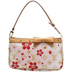 Louis Vuitton Limited Edition Cherry Blossom Murakami Shoulder Bag (3.325 RUB) ❤ liked on Polyvore featuring bags, handbags, shoulder bags, crossbody purses, shoulder strap handbags, crossbody wristlet, louis vuitton shoulder bag and cross-body handbag