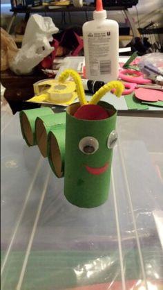 Caterpillar with salvation poem inside