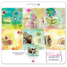 Paint your moments - tell your story beautifully & uniquely. Six 12x12 painted papers.