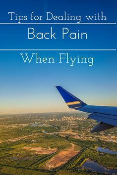 Easy tips for dealing with back pain when you fly.