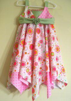 Handkerchief Dress PDF Sewing Pattern Tutorial  NEW by aSundayGirl, $7.50