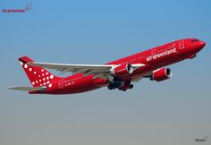 "Air Greenland Airbus A330-223 OY-GRN ""Norsaq"" departing Paris-Charles de Gaulle, August 2015. (Photo via Flickr: Phinalanji)"