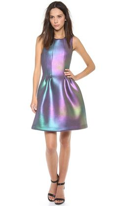 Cynthia Rowley Iridescent Scuba Dress $410