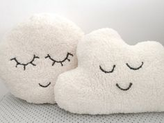 This listing is for a cozy cloud plush pillow. Handmade in cloud shape from a soft sheepskin-like fleece fabric. A huggable modern decorative pillow