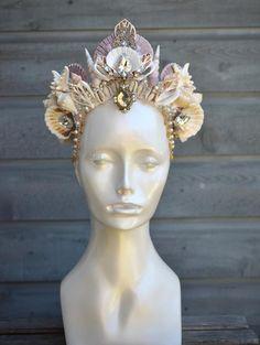 Mermaid Costume Makeup, Adult Mermaid Costume, Mermaid Headpiece, Mermaid Crown, Seashell Crown, Shell Crowns, Gothic Crown, Mermaid Parade, Art Supply Stores