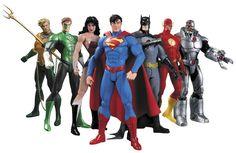Figura del anime 17 cm Superhéroes Batman Green Lantern Flash Superman Wonder Woman PVC Figuras de Acción Juguetes Para Niños Muñecas Modelo