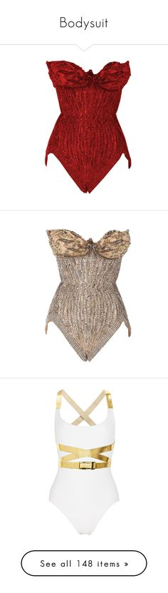 """""""Bodysuit"""" by ani-hot ❤ liked on Polyvore featuring intimates, shapewear, tops, bodysuit, corset, dresses, corsets, lingerie, swimwear and one-piece swimsuits"""