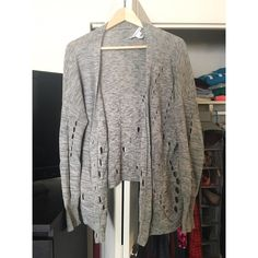 BCBG Generation Distressed Sweater Lightweight distressed cardigan, tag is coming off but otherwise good condition. BCBGeneration Sweaters Shrugs & Ponchos