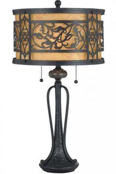 Gorgeous metal & parchment lamp