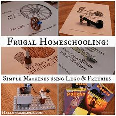 free printables and ideas for teaching simple machines with Legos  www.halloffamemoms.com