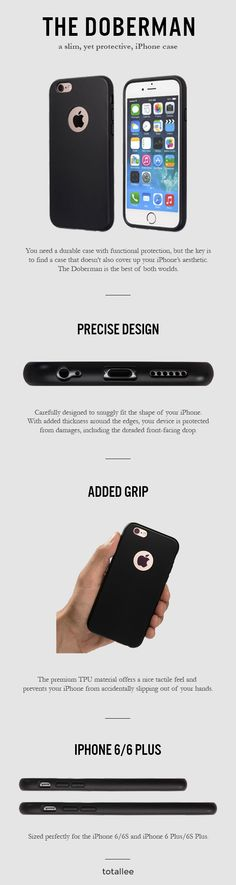 You need a durable case with functional protection, but the key is to find a case that doesn't also cover up your iPhone's aesthetic. The Doberman is the best of both worlds. http://www.totalleecase.com/the-doberman