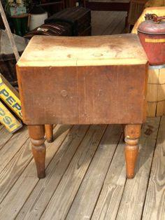 Butcher Block Tables Blocks Primitive Antiques Country Rustic Kitchens Bread Board Antique Decor S Primitives