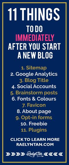 How to craft your blog business plan template included business 11 things to do immediately after you start a new blog marketing planbusiness cheaphphosting Gallery