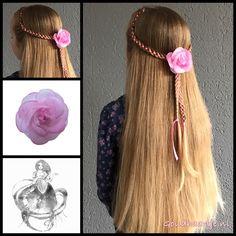 four strand ribbon braid tie-back