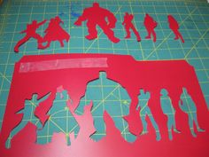 Show Tell Share: Avengers Stenciled Shirt and How To Make Silhouette Stencils From A Picture