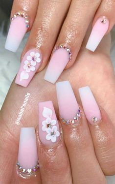 The elegant gel pink coffin nails suitable for spring and summer - gel almond nails design, acrylic short nails, short almond nails, summer nails design, almond nails - Coffin Nails Designs Summer, Cute Acrylic Nail Designs, Ombre Nail Designs, Pretty Nail Designs, Pretty Nail Art, Nail Art Designs, Almond Nails Designs Summer, Latest Nail Designs, Acrylic Nails Coffin Pink