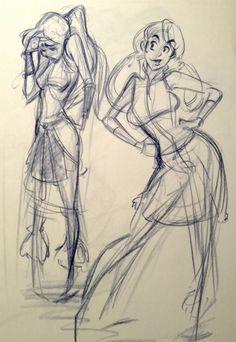Com on anatomy/body sketches, character design Character Poses, Female Character Design, Character Art, Cartoon Girl Drawing, Cartoon Drawings, Body Sketches, Drawing Sketches, Design Steampunk, Sketch Poses