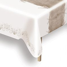 Amscan 1.2 x 1.8 m Rustic Wedding Linen Paper Table Cover: Amazon.co.uk: Kitchen & Home
