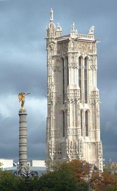 Cap. 4: el torre de Saint-Jacques en la ciudad antigua de París. Los cuatro de Medusa necesitan ir a este lugar para probar problemas de la religión del futuro.