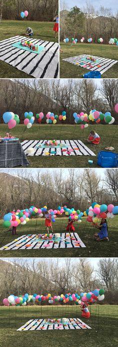 make a balloon wall