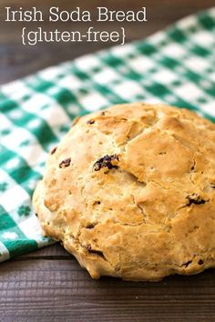 This gluten-free Irish soda bread is a healthy snack or breakfast for St. Patrick's Day. Nobody will miss the wheat in this delicious bread!