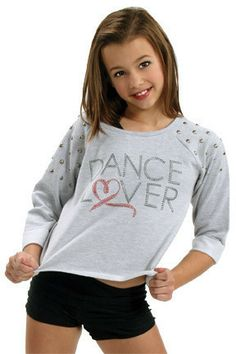 d01bfef31e Dance Lover Studded Child Cropped Sweatshirt - On 1 Dancewear Dance  Fashion