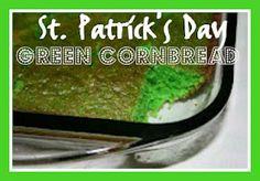 St. Patrick's Day Green Cornbread