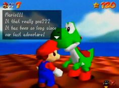 Meeting Yoshi after collecting 120 Stars in Super Mario 64 and then being intensely disappointed you couldn't ride him. | 28 Moments Everybody Who Played Nintendo In The '90s Will Remember