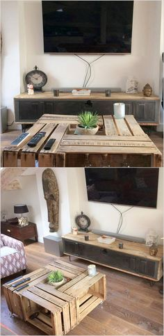 Re-purposing of pallet into useful stuff of your house is always an unbeatable idea. You whenever notice weak points in your furniture you will must think about… Wooden Pallet Coffee Table, Wooden Pallet Beds, Wood Pallets, Pallet Wood, Outdoor Pallet, Pallet Furniture For Sale, Recycled Furniture, Cheap Furniture, Unique Home Decor