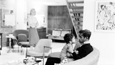 Sammy Davis Jr. and his Ib Kofod-Larsen Elizabeth chair