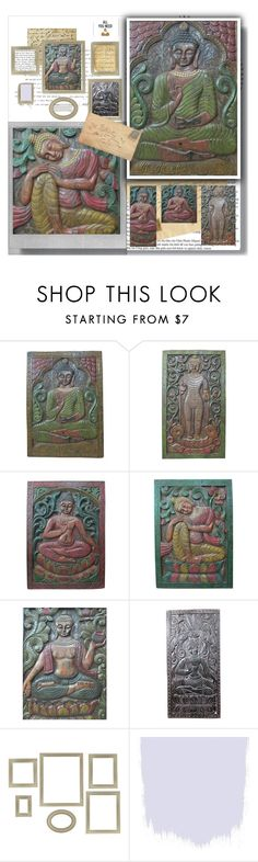 Antique Buddha Wall Sculpture by baydeals on Polyvore featuring interior, interiors, interior design, home, home decor, interior decorating, Melannco and Polaroid   http://stores.ebay.com/mogulgallery/CARVED-DOORS-/_i.html?_fsub=353415319&_sid=3781319&_trksid=p4634.c0.m322