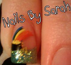 Pot of Gold & Rainbow Pot Of Gold, Holiday Nails, Nail Ideas, Class Ring, Silver Rings, Rainbow, Jewelry, Rain Bow, Rainbows