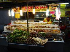 Stand dédié aux satays - Jalar Alor - Chinatown - Kuala Lumpur