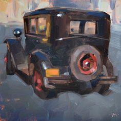 Spare Tire, oil, by Carol Marine