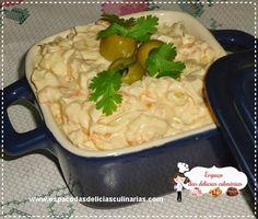 Patê de frango, cenoura, milho, queijo e azeitonas - Espaço das delícias culinárias