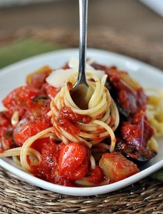 Roasted Vegetable Pasta Sauce by melskitchencafe #Pasta #Sauce #Vegetable