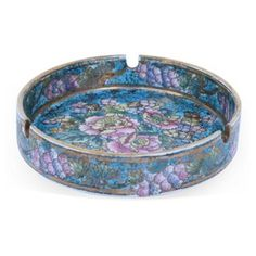 Check out this item at One Kings Lane! Cloisonne Floral Ashtray
