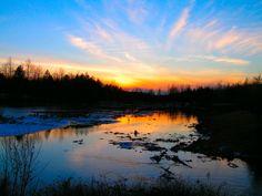 12.21.2015.first day of winter,  Saranac Lake High School Pond, sunset, 417pm, dec 21, 2006