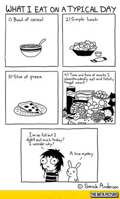 Sarah see andersen Sarah Anderson Comics, Sara Anderson, Funny Shit, The Funny, Funny Stuff, Sarah's Scribbles, 4 Panel Life, Funny Quotes, Funny Memes