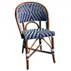Beaufurn French Bistro Chair In (DD) Weave With Dark Blue And Azur Nylon  Expertly
