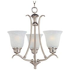 Pyramid Creations�3-Light Piedmont Satin Nickel Chandelier at Lowes